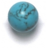 Semi-Precious 10mm Round Reconstructed Turquoise